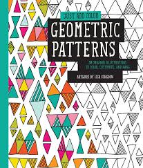 Just Add Color Geometric Patterns Adult Colouring Book Colourmeawesome