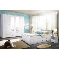 weißes schlafzimmer aus holz velriva 4 teilig