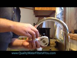 Brita Water Filter Faucet Attachment by Installing A F8 Instapure Faucet Mount Water Filter Youtube