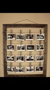 Display Many Photos With An Old Frame Wire And Clothespins PERFECT Use For The Huge I Just Took Apart Girls Hair Bow Holder