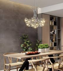 modern led chandeliers for dining room