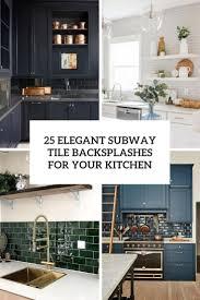 Subway Tile Backsplash For Kitchen 25 Subway Tile Backsplashes For Your Kitchen
