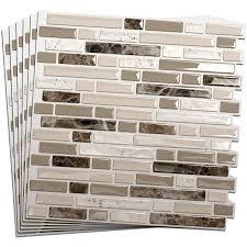 Smart Tiles Bellagio Mosaik by Shop Smart Tiles 10 In X 10 In Beige Mosaic Vinyl Tile At Lowes