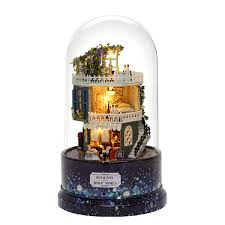 Diy Glass Ball Doll House Star Dreams Miniature Furniture Kit Rotary
