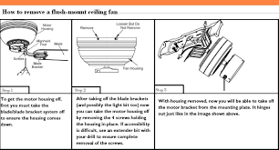 Flush Mount Ceiling Fans Home Depot by How To Remove A Hampton Bay Flush Mount Ceiling Fan The Home