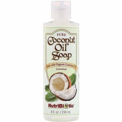 Nutribiotic Pure Coconut Oil Soap - Unscented, 8oz