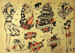 Sailor Jerry Pin Up Girl Tattoo Flash All Tattoos For Men