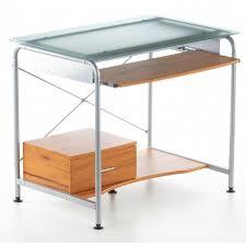 bureau informatique compact table informatique compact pro teak verre a achat vente