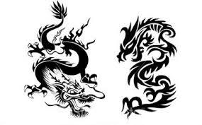 Black Dragon Back Tattoos