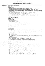 Download Admin Clerk Resume Sample As Image File