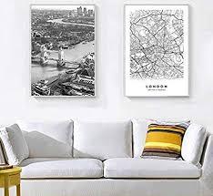 moderne new york stadtplan wandkunst bild für