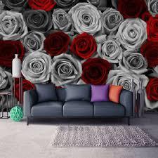 details zu vlies fototapete schlafzimmer rot blumen tapete wandtapete wohnzimmer 14