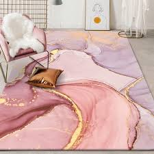wohnzimmer teppiche rosa gold öl malerei abstrakte teppich mädchen zimmer romantische lila 3d teppiche schlafzimmer neben teppich teppich halle matte