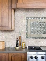 1 x 1 of pearl shell tile kitchen backsplash