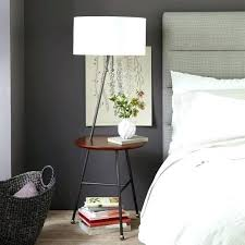 Floor Lamp With Attached End Table by End Table With Light Attached End Table With Light Attached