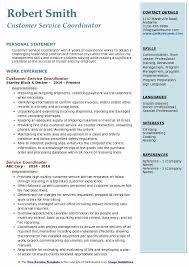 Customer Service Coordinator Resume Sample