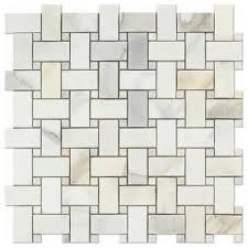 calacatta gold marble basketweave mosaic tile w calacatta gold