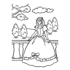 Free Printable Princess In Her Castles Coloring Pages