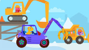 100 Digger Truck Videos Construction Cartoons For Children Excavator Digger Trucks With