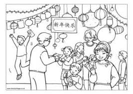 Chinese New Year Colouring Pages Coloring For