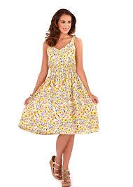 womens dress v neck floral summer dress mid length ladies sundress