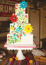 Mexican Fiesta Inspiration Wedding Cake