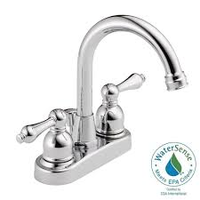 Home Depot Bathroom Faucets Chrome by Westbrass 4 In Centerset 2 Handle High Arc Bathroom Faucet In
