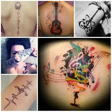 Cool Music Tattoo Designs 2016