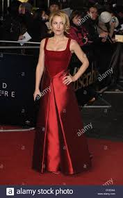 Carpet World Leicester by Actress Gillian Anderson Attends The World Premiere Of Les