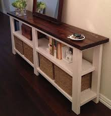 Make A Sofa Table With Storage Batimeexpo Furniture Within Tables Decorating