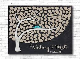 Wedding Guest Book 3D Tree Of Hearts Wood Guestbook Alternative