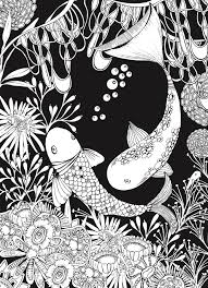 Creative Haven Sea Life Wonders Coloring Book Amazing Designs On A Dramatic Black Background