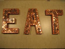Copper Penny EAT Sign For Kitchen Decor By HHandPinwheels On Etsy 3000