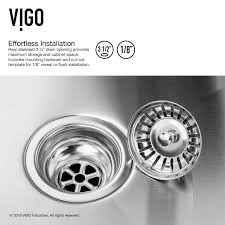 Install Kindred Sink Strainer by Large Bowl Kitchen Sink Instasink Us