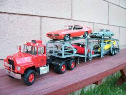 Mack Truck With Auto Transport Trailer | Car & Truck Scale Models ...