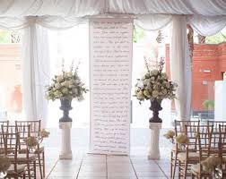 Handwritten Calligraphy Style Wedding Ceremony Backdrop Aisle Runner For Your Altar With Vows Love Poems