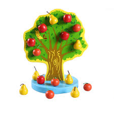 Get Quotations Magnetic Christmas Tree Apple Orchard Happy Wooden Toys Intellectual Childrens Cognitive
