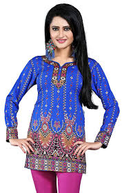 amazon com indian tunic top womens kurti printed blouse india