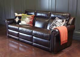 Ethan Allen Sectional Sofa Slipcovers by Johnston Leather Incliner Sofa Anson Espresso Leather Interiors
