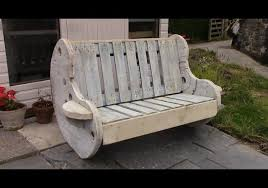 diy garden bench project u2013 pallet and cable reel furniture