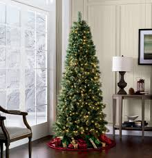 Pre Lit Pencil Christmas Trees by Skinny Christmas Tree With Lights Home Decorating Interior