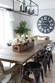 Diy Faux Floral Arrangement Feminine Yet Rustic Crate Rh Com Farmhouse Style Dining Room