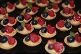 berry canapes miniature fresh berry tartlettes with coconut scented custard made