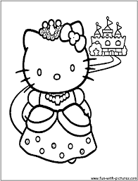 Hello Kitty Princess Coloring Pages 3