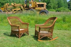 Heywood Wakefield Chairs Antique by Antique Heywood Wakefield Bar Harbor Wicker Chair And Rocker Set
