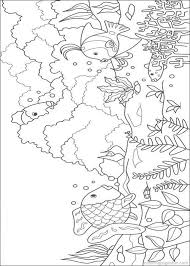 Rainbow Fish Colouring Page