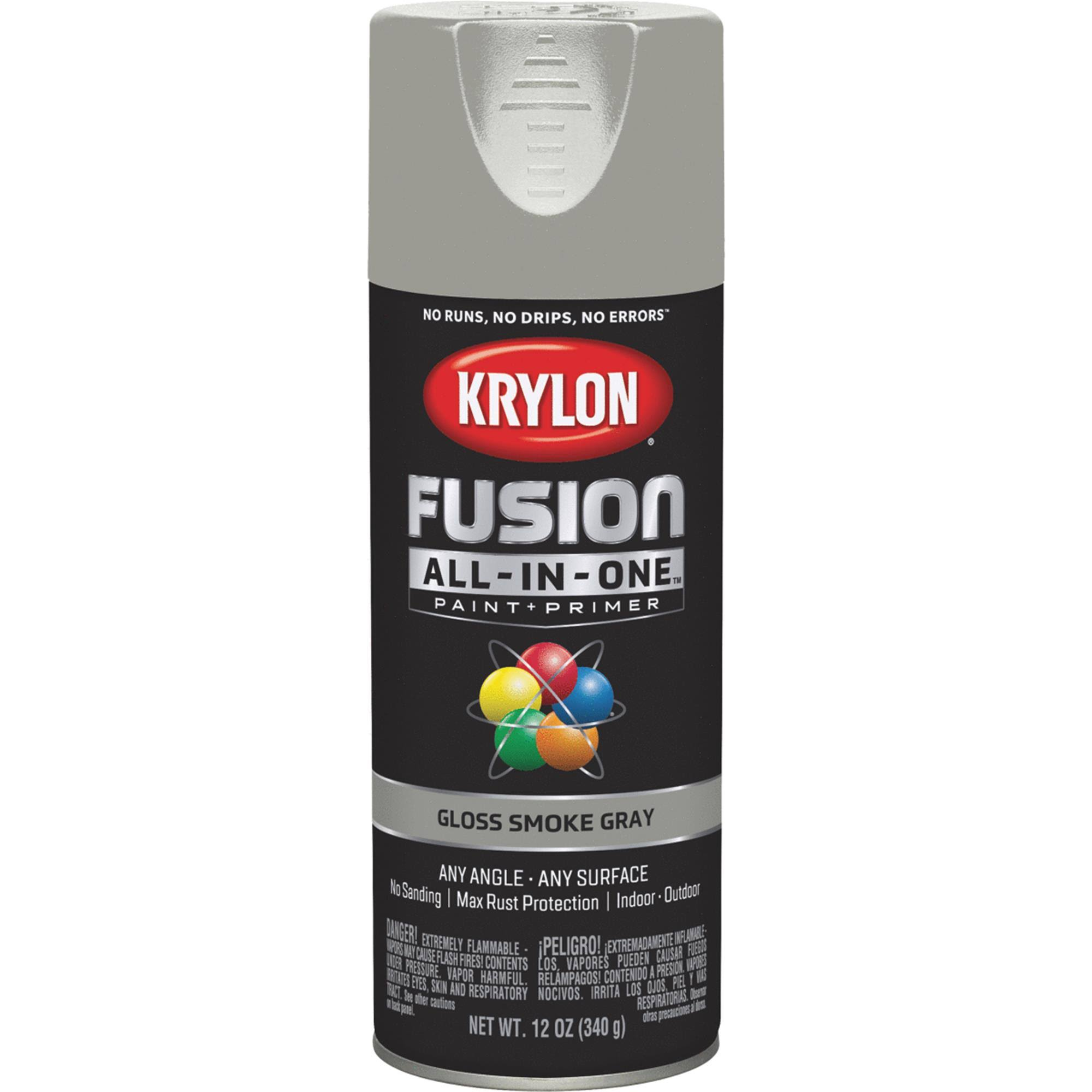 Krylon K02723007 Fusion All-in-One Spray Paint, Smoke Gray