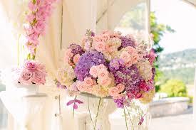 Wedding Centerpiece Blush Pink Lavender Light Hydrangea