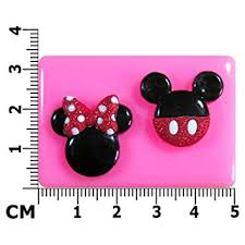 mickey et minnie mouse moule en silicone pour décoration de