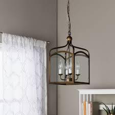 Ashley Bronze 4 light Foyer Hanging Lantern Free Shipping Today